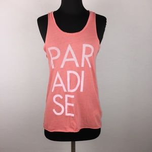 Junk Food XS Paradise Tank Top Sleeveless Cotton